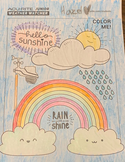AcuRite Junior Weather Watcher weather station coloring page