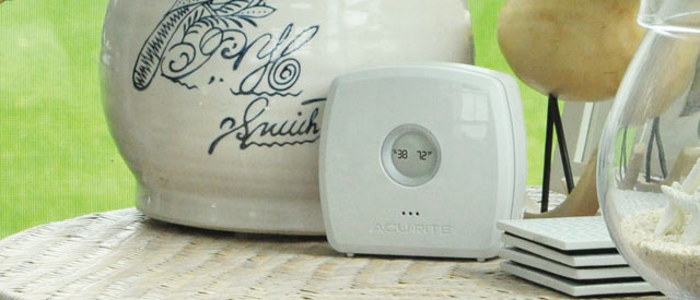 Room Monitor on a table - AcuRite Weather Monitoring Devices