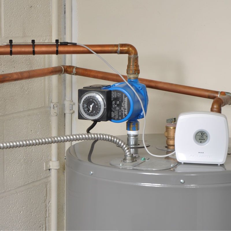 Water Detector installed on the basement pipe