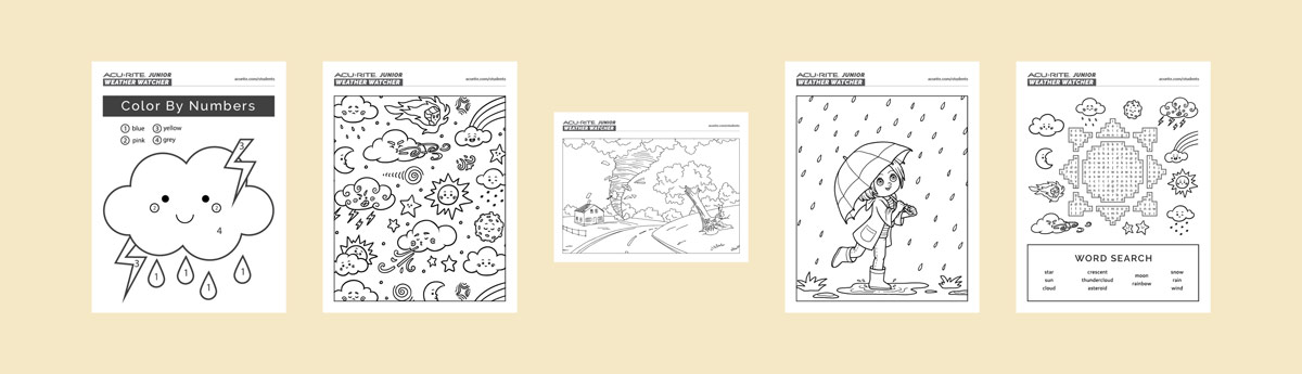 AcuRite Junior Weather Watcher coloring book pages