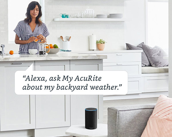 Alexa, ask My AcuRite about my backyard weather