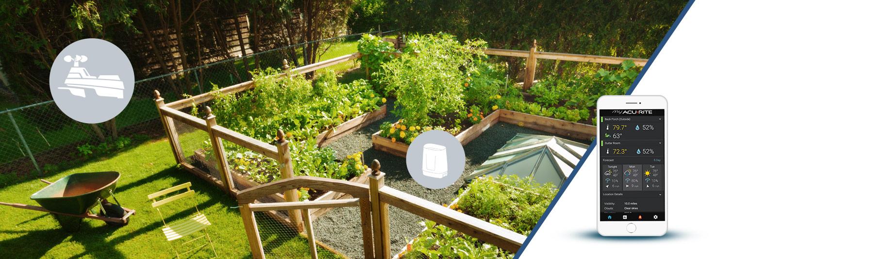 garden with sensors
