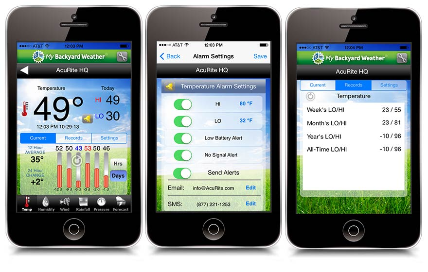 Aculink app for iphone ios environmental remote for Application iphone temperature interieur