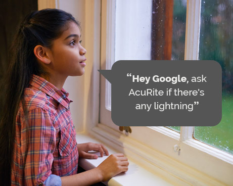 Hey Google, ask AcuRite if there's any lightning
