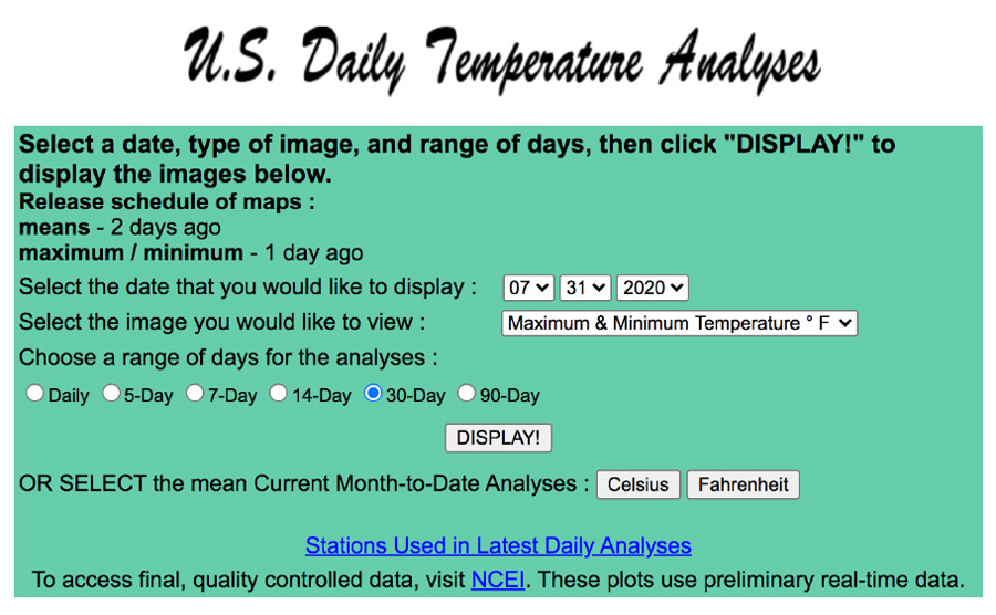 US Daily Temperature Analysis
