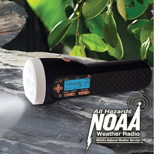 cool hunting gadgets and fishing gadgets - noaa weather radio flashlight