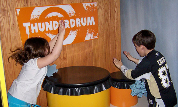 Students using thunderdrum