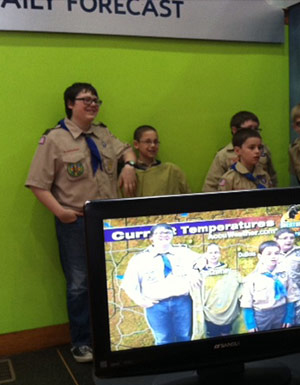 Students at punxsutawney weather discovery center