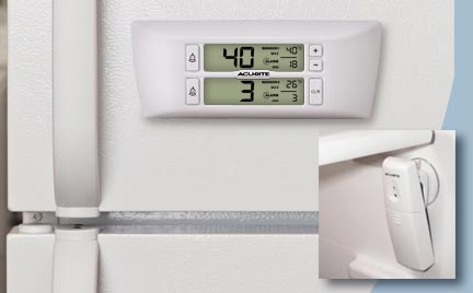 Monitor refrigerator and freezer temperature