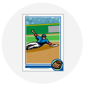 Baseball card icon