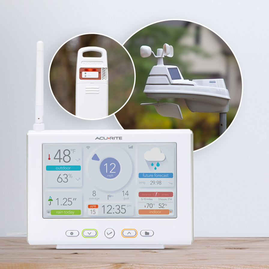 AcuRite Iris™ Weather Station with High-Definition Direct-to-Wi-Fi Display and Lightning Detection