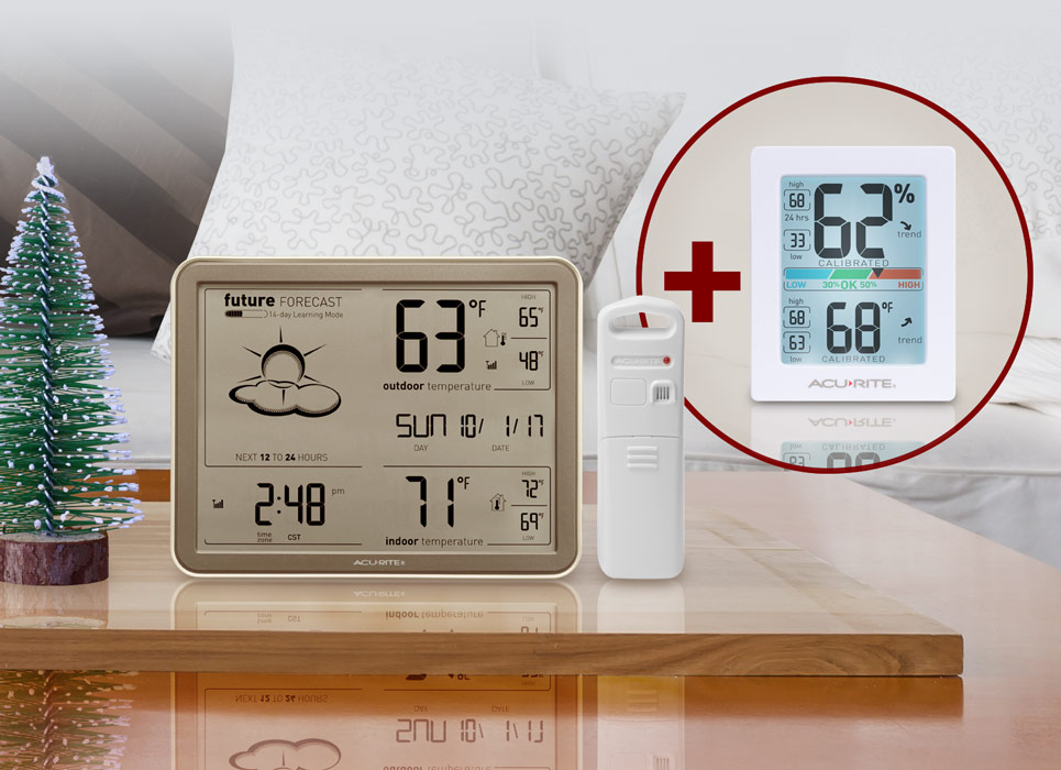 Self-Learning Weather Forecaster + Bonus Humidity Monitor with Backlight