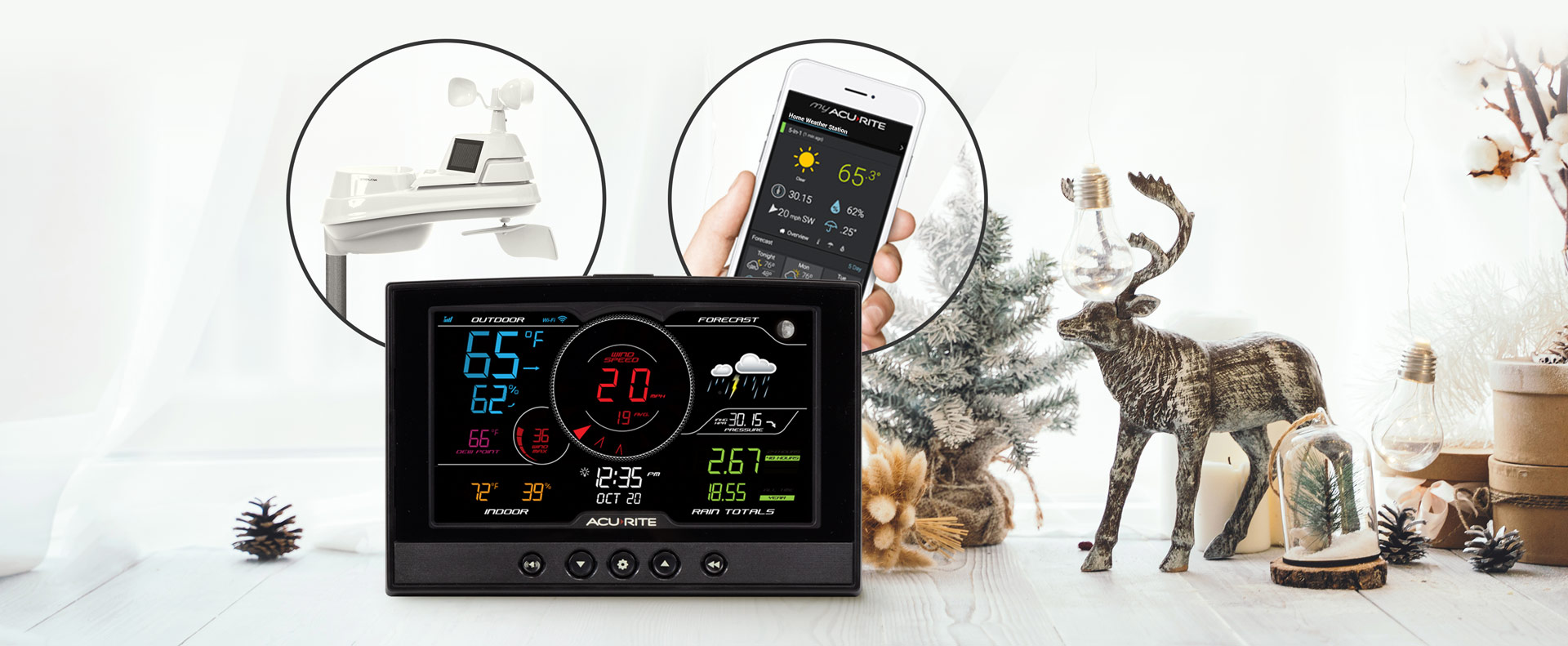 AcuRite Iris (5-in-1) Weather Station with Direct-to-Wi-Fi Display