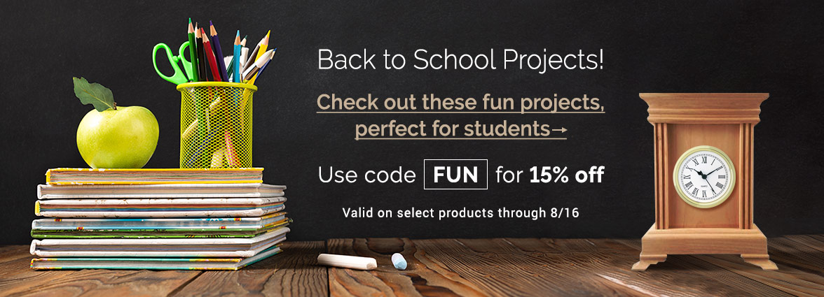 Back to School Projects - Save 15% on select products with the offer code FUN