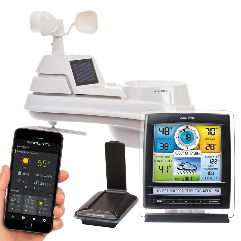 PRO+ 5-in-1 Weather Station with AcuRite Access for Remote Monitoring