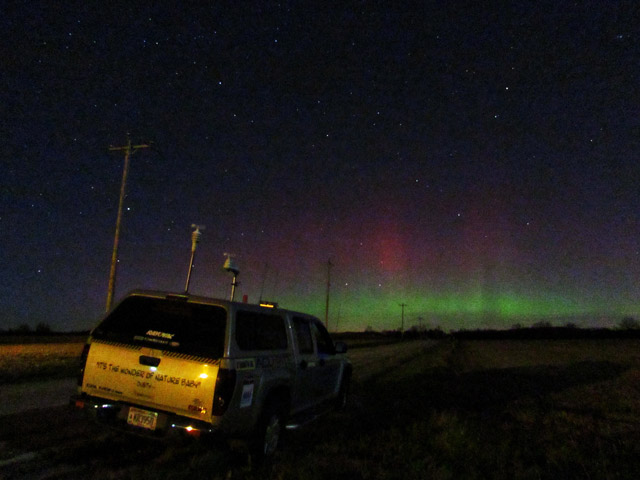 acurite storm chaser with northern lights