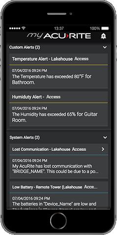 My AcuRite - Custom Alerts