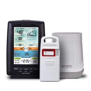 Color Weather Station with Rain Gauge and Lightning Detector