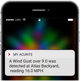 Get alerts with the My AcuRite app