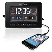 Atomic Clock with USB Charger and Dual Alarm