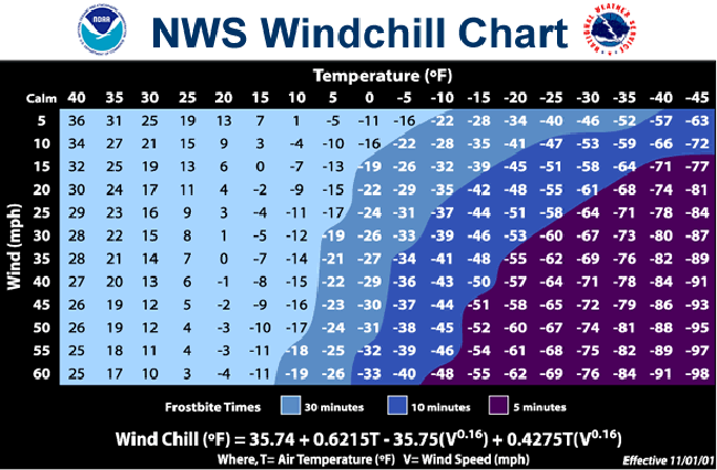 wind chill index