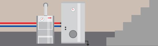 Home heating system illustration