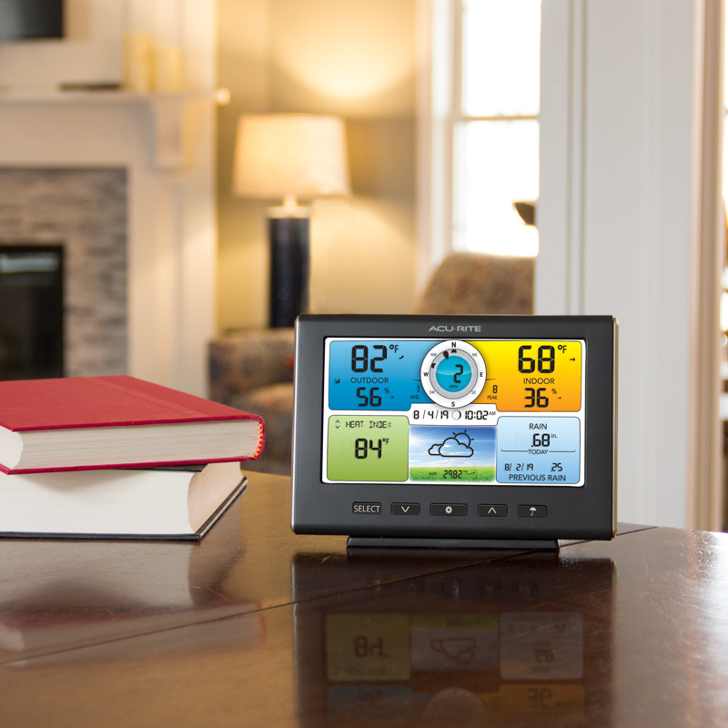 Color display sitting on a table – AcuRite Personal Weather Stations