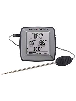 Digital Meat thermometer with Time Left to Cook - AcuRite Kitchen Gadgets