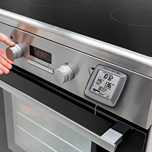 Digital Meat thermometer on a stove - AcuRite Kitchen Gadgets