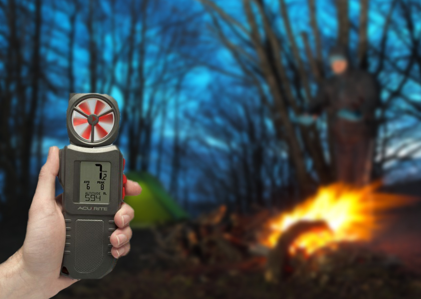 Portable Anemometer by campfire