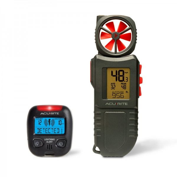 Portable Anemometer and Lightning Detector