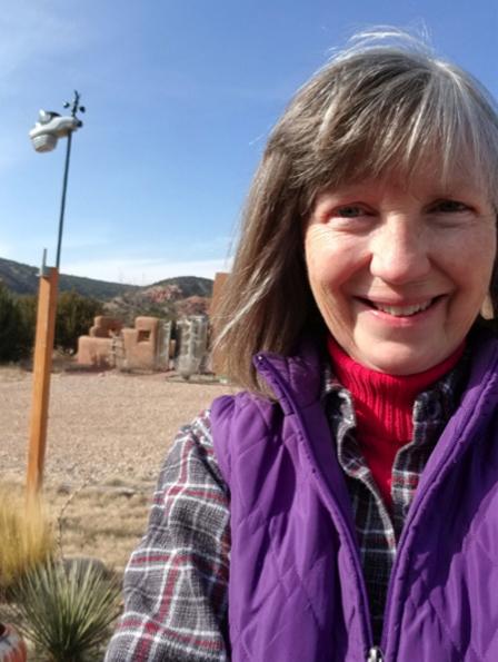 Deb Jones in front of her AcuRite Atlas