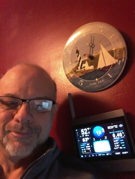 Chris Collins and his AcuRite Atlas Display