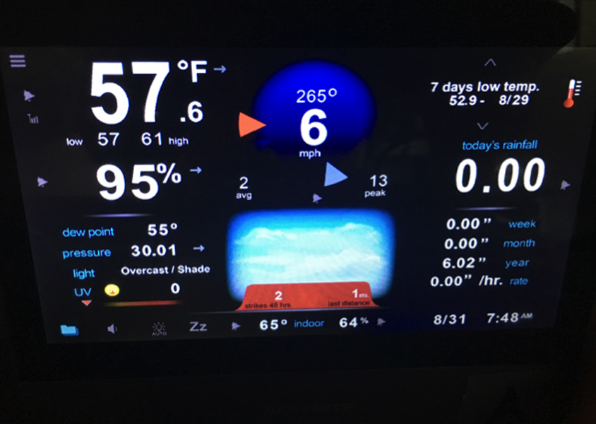 Image of AcuRite weather display