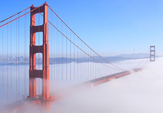 Golden Gate bridge on a foggy day