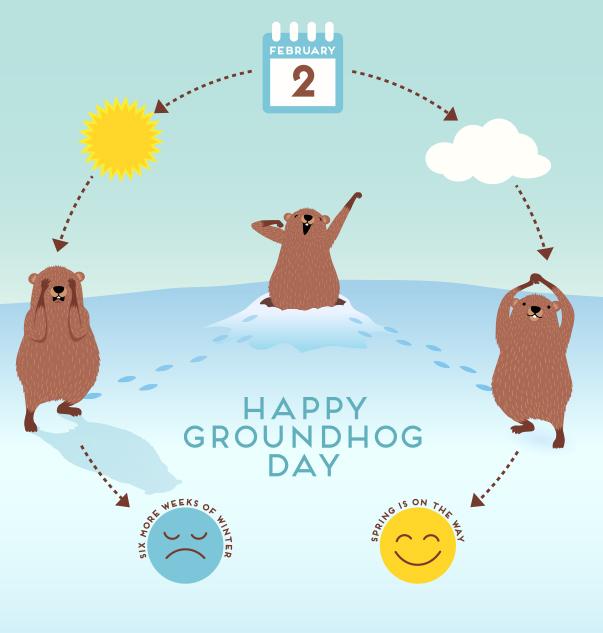 February 2 - Happy Groundhog Day