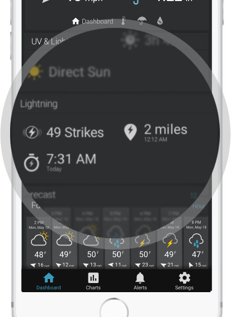 My AcuRite screenshot lightning detection - AcuRite Weather Monitoring