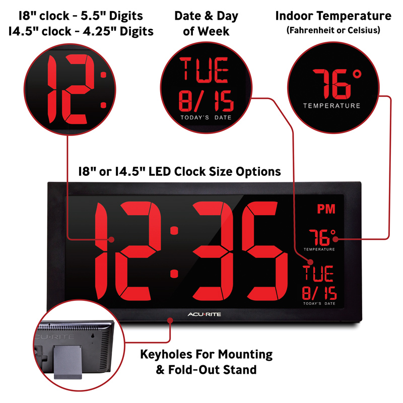 large led digital clock - AcuRite Home