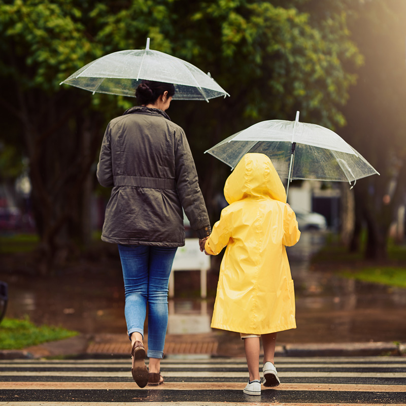 People walking in the rain – AcuRite Personal Weather Stations
